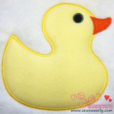Yellow Duck Machine Applique Design For Kids