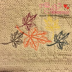 Falling Leaves Embroidery Design