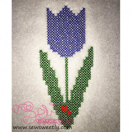Spring Flower Cross Stitch Embroidery Design
