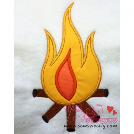 Camp Fire Applique Design For Camping Projects