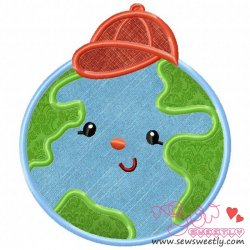 Earth Boy Applique Design
