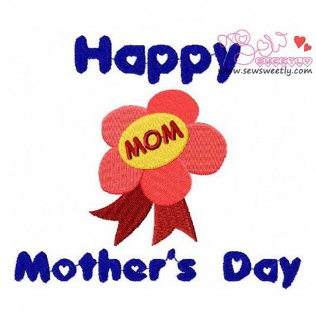 Mother's Day-2 Embroidery Design For Mother's Day.