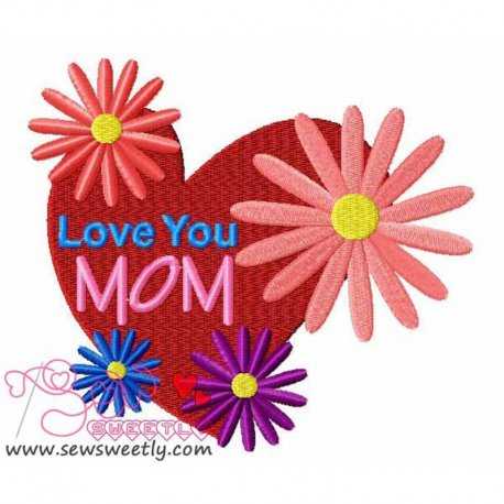 Mother's Day-1 Embroidery Design For Mother's Day.