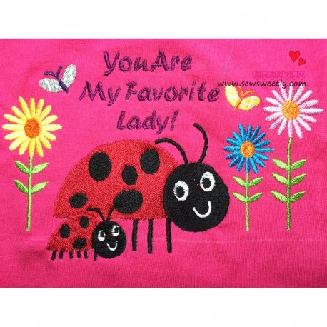 You Are My Favorite Lady Machine Embroidery Design For Mother's Day