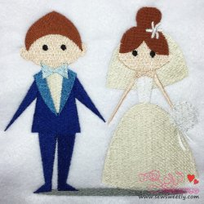 Happy Wedding-2 Embroidery Design
