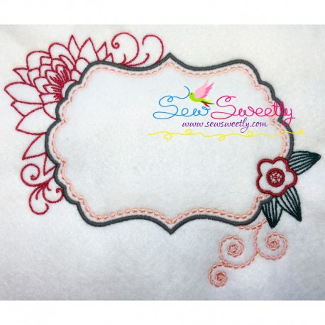 Floral Frame-1 Machine Embroidery Design Best For Pillows