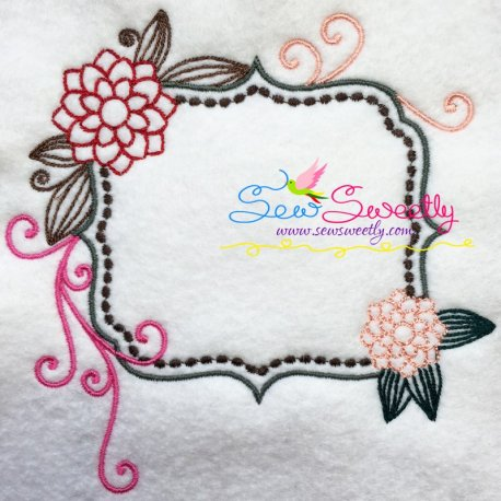 Floral Frame-4 Machine Embroidery Design Best For Pillows