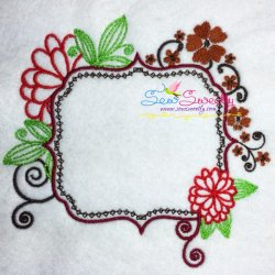 Floral Frame-2 Embroidery Design
