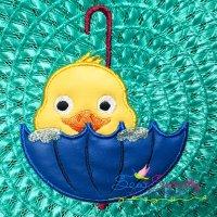 Duck Peeking Applique Design