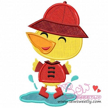Duck Puddle Applique Design Pattern- Category- Rainy Season Designs- 1