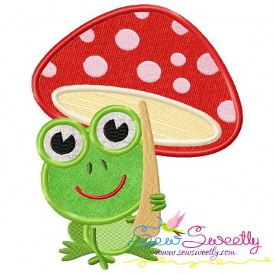 Frog Mushroom Applique Design