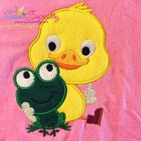Frog Duck Applique Design