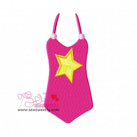 Swim Suit-1 Machine Embroidery Design For Kids And Summer Season Projects