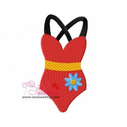Swim Suit-2 Embroidery Design