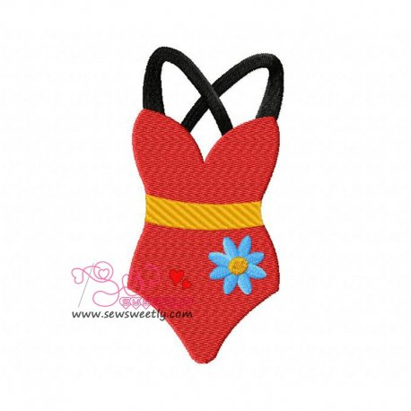 Swim Suit-2 Machine Embroidery Design For Kids And Summer Season Projects.