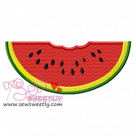 Watermelon Slice Machine Embroidery Design For Kids And Summer Season Projects.