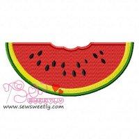 Watermelon Slice Embroidery Design