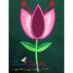 Pink Flower Applique Design