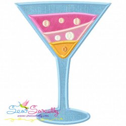 Summer Cocktail-1 Applique Design