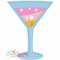 Summer Cocktail-1 Embroidery Design