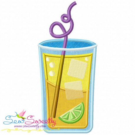 Summer Cocktail-2 Machine Applique Design For Summer Season.