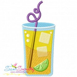 Summer Cocktail-2 Embroidery Design