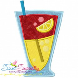 Free Summer Cocktail-3 Applique Design