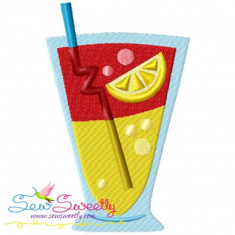 Summer Cocktail-3 Machine Embroidery Design For Kids And Summer Season Projects.