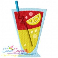 Summer Cocktail-3 Embroidery Design