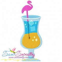 Summer Cocktail-4 Embroidery Design