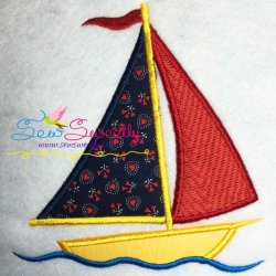 Sail Boat-2 Applique Design