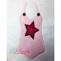 Swim Suit-1 Applique Design