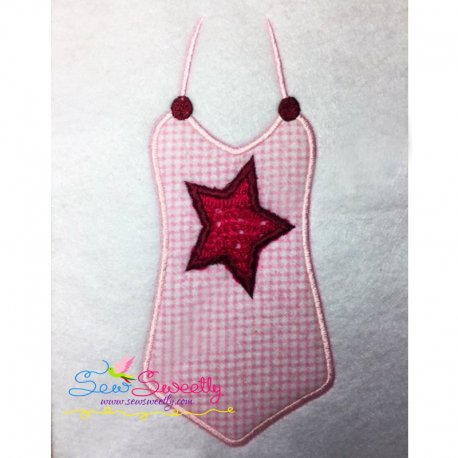 Swimsuit-1 Applique Design Pattern- Category- Summer And Spring Season- 1