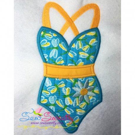Swim Suit-2 Machine Applique Design For Summer Season