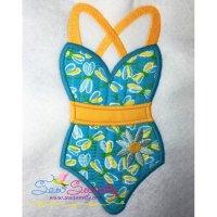Swim Suit-2 Applique Design