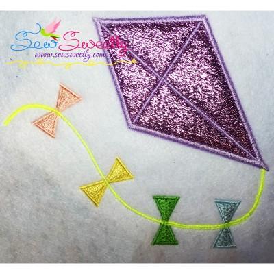 Summer Kite Applique Design