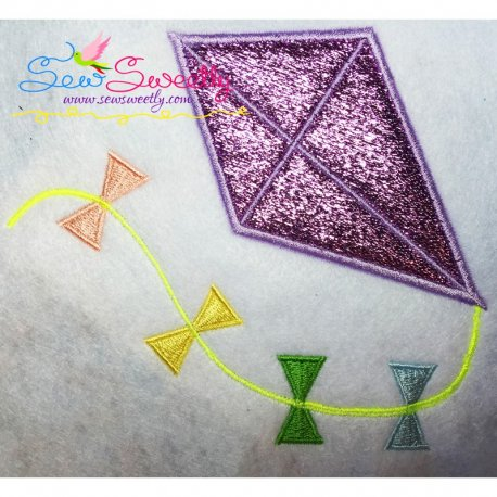Summer Kite Machine Applique Design For Summer Season