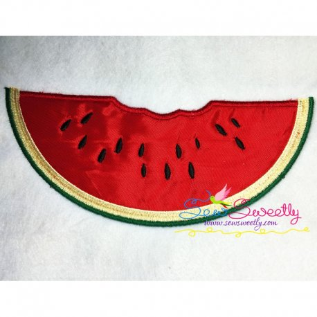 Watermelon Slice Machine Applique Design For Summer Season