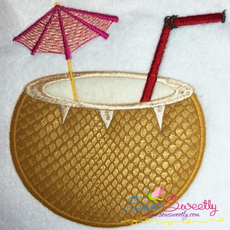 Coconut Drink Applique Design Pattern- Category- Summer And Spring Season- 1