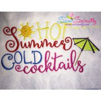 Hot Summer Embroidery Design