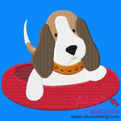 Beagle Dog-4 Embroidery Design