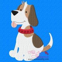 Beagle Dog-2 Embroidery Design