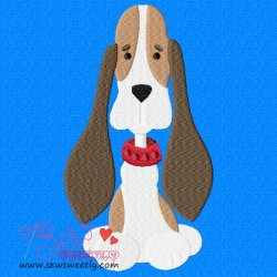 Beagle Dog-1 Embroidery Design