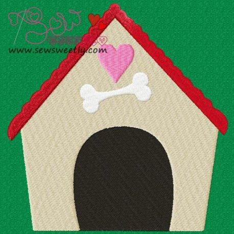 Dog House-1 Machine Embroidery Design