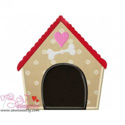Dog House-1 Applique Design