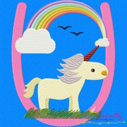 Animal Letter-U- Unicorn Machine Embroidery Design For Kids