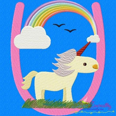 Animal Letter-U- Unicorn Pattern- Category- Single Alphabets- 1