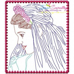 Multi Color Vintage Stitch Bride-10 Embroidery Design