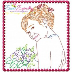 Multi Color Vintage Stitch Bride-9 Embroidery Design