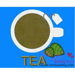 Tea Cup Applique Design